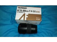 Tamron AF70-300mm F/4-5.6 di Lens..Tele & zoom for Canon with minolta tripod