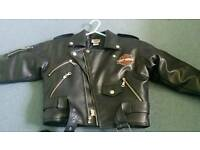 Childs leather motorcycle jacket Harley Davidson