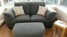 Ikea 2 seat sofa and footstool