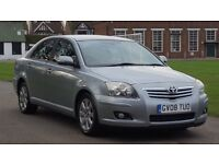 TOYOTA AVENSIS 1.8 TR 08PLATE 2008 1P/LADY OWNER SINCE 2009 85000 MILES VOSA HISTORY SATNAV AC ALLOY