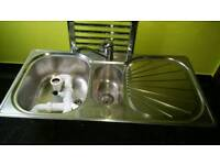 KITCHEN SINK 1.5 BOWL WITH TAP AND WASTE FRANKE