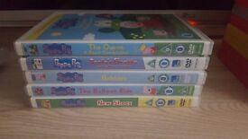5 peppa pig dvds