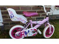 "Silverfox Pink Princess 12"" Inch Bike - Girls Age 2-5 years"