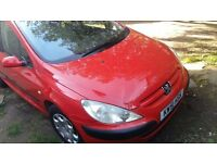 for sale peugeot 307 1.6 2002 year