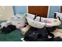 Baby bundle- tommee tippee steraliser, baby bath, carrier, bottles