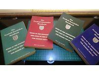 Vintage 4x Football Association Handbook Rules & Laws of the Game Seasons 1957-58 1960-63
