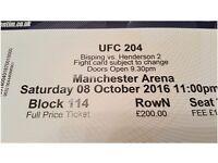 UFC 204 Bisping vs Henderson x1 Ticket Block 114