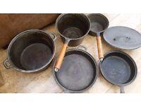 Cast Iron Pan Set (vintage)