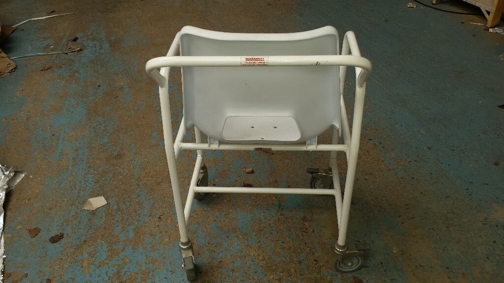 Mobile bathroom wheeled Shower Chair Bath Stool seat with Integral ...