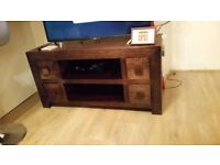 Dard hard wood tv unit debenhams one year old collection only 170 ono