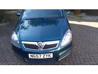 Vauxhall zafira. FSH. FULL MOT