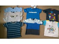 18-24 months baby boys clothes short sleeve t-shirt bundle 20p each or all 8 for £1.40