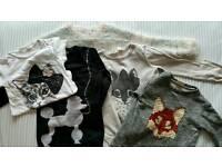 Cute animal themed tops, aged 4-6, Zara, Bluezoo, H&M.