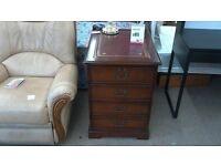 Dark wood 4 drawer filing cabinet