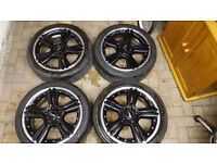 "Mini countryman paceman bmw alloy wheels tyres genuine john cooper works split rims 18 "" inch"