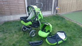 BABY 3in1 PUSHCHAIR, CARRY COT AND CAR SEAT