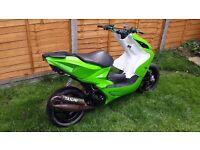 Yamaha Aerox 70cc reg as 49cc