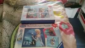 Frozen puzzles. 7 altogether