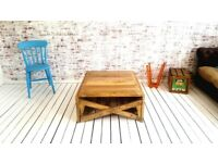 Coffee Table Come Dining Table/Desk in One! Rustic Mid-Century modern Living Extending Table