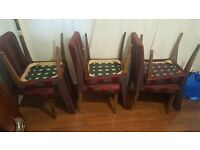 Dining table with 6 chairs £50