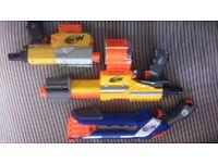 NERF GUNS x3