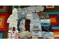 Baby boy clothes bundle 0-3 months #36 items