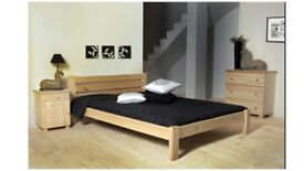 Euro Double (140x200cm) solid pine bed