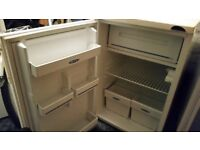 Frigidaire white Under Counter fridge with small freezer compartment