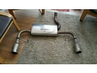 clio 197 Stainless Steel Exhaust back box