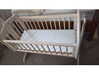 Rocking Crib with Mattress