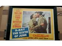 Vintage 1950's film lobby posters Ltd editions