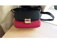 Monsoon NEW Leather colour blockshoulder bag adjustable strap and internal zip pocket