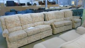 PRE OWNED G-Plan 3 Seater + 2 Seater + Chair in Beige Floral Fabric