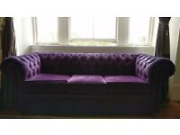 Chesterfield 3 piece and 2 piece sofa bed - URGENT COLLECTION TODAY