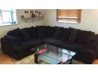 black l shape dfs sofa