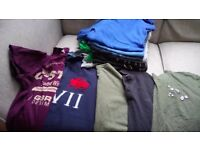 16 all branded t-shirts. All large size.