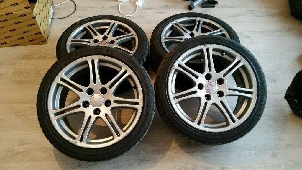 "Genuine Honda Civic Type R Ep3 Fn2 17"" Alloys 5x114 dc2 dc5 accord"