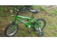Bike green and black