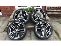 19 inch Alloy Wheels 5x120 PCD BMW with very good tyres