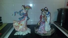 2 chinese figurines sisters of springs. Mako by caroline young