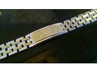 SILVER BRACELET (925 STERLING SILVER) OVER 1 OUNCE IN WEIGHT
