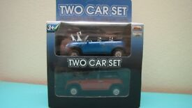 Two Car Set - red and blue Mini - NEW IN BOX, NEVER OPENED