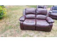 Free Leather sofa recliner n 2 chairs