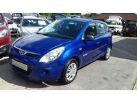 2009/09 HYUNDAI i20 1.2 CLASSIC 5DR BLUE,LOW MILEAGE,NEW MOT,GOOD SPEC,LOOKS + DRIVES WELL