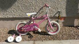 """Bike - 12"""" wheel pink princess girls bike"""