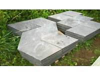 Diamond shaped garden paving slabs