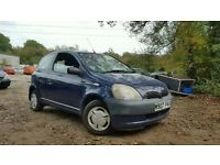 2000 TOYOTA YARIS 1.0 S VVTI RUNS & DRIVES SPARES OR REPAIRS CORSA CLIO ASTRA SAXO KA ROVER