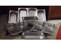 Stainless Steel Gastronorm Dishes/Pans and some lids