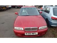 Selling Rover 600 for spares or repair as no MOT, £300 ONO,