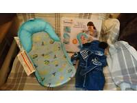 Summer deluxe baby bather and Disney baby bath robe